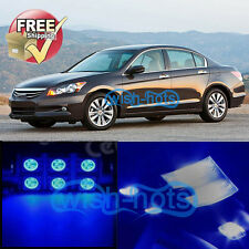 9 PCS 12V LED Lights Bulbs Interior Package Kit for 2003-2012 Honda Accord Blue