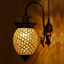 Bud Shaped Glittering Glass Wall Lamp Light Home Bedroom Décor