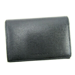 Auth BURBERRY Card Case leather Auth  T17191
