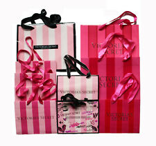 STRIPE Holiday Small GIFT Shopping PAPER BAG LOT PINK DOG VICTORIA/'S SECRET