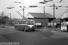Rotherham trolleybus No.3 passes Mexborough & Swinton Rawmarsh Depot Bus Photo C