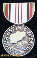 AFGHANISTAN CAMPAIGN MEDAL HAT LAEPL PIN UP US ARMY MARINES NAVY AIR FORCE WOW