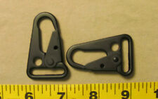 "One 1"" HK Snap Hooks Heavy Duty Black Resin Carbon Steel Metal"