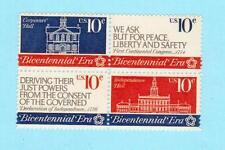Scott # 1543/46...10 Cent...5 Blocks of 4....Bicentennial... 20 Stamps