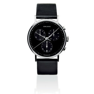 Georg Jensen Men's Chronograph # 317 with Black Dial