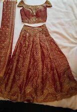 Sheetal India Designer Bridal or Formal Embroidered Ghagra Choli Lehenga Mint!