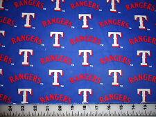 "Vintage MLB Baseball Texas Rangers Cotton Fabric 7""x28"""