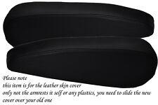 BLACK STITCH FITS CITROEN C8 PEUGEOT 807 FIAT ULYSSE 02-10 2X SEAT ARMREST COVER
