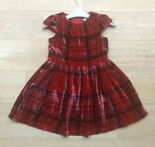 NEXT *4y GIRLS RED TARTAN PARTY DRESS Fabulous VELVET DRESS 4 YEARS