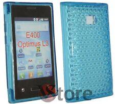 Cover Custodia Per LG L3 OPTIMUS E400 Gel TPU Azzurro + Pellicola Salva Schermo