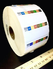 Huge Roll Of 2,000 Daymark Day Of Week Restaurant Rotation Color Coded Labels