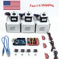 Arduino CNC Kit w/ UNO + Shield + Stepper Motors DRV8825 Endstop A4988 GRBL US H