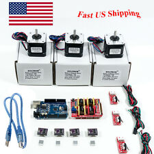 Arduino CNC Kit w/ UNO + Shield + Stepper Motors DRV8825 Endstop A4988 GRBL US H