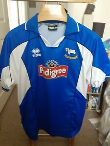 DERBY COUNTY 2004 AWAY   FOOTBALL  SHIRT  SIZE ADULTS   LARGE
