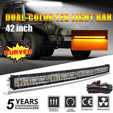 """Curved 42"""" Inch 2658W LED Work Light Bar Dual color Car Off road Strobe SUV 4WD"""