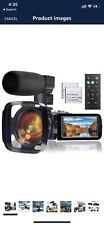 Video Camera Camcorder with Microphone, Full HD 1080P 24MP 30FPS FamBrow...