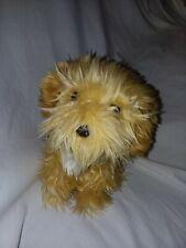 "Aurora Miyoni Scrappy Terrier Puppy Benji 7"" Bean Plush Dog Animal Stuffed Brown"