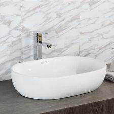 Curved Rectangle ART BASIN Above Counter BATHROOM VANITY Ceramic Porcelain Sink