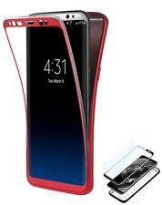 Coque Samsung Galaxy S9 Plus Rouge + Film Protection Ecran Anti-Choc TPU avec A