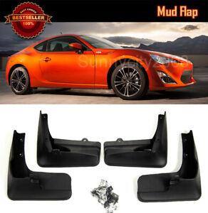 Front Rear Splash Rock Guard Mud Flap Fit 12-17 Scion FRS AE86 Subaru BRZ GT86