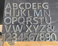 """4""""  tall Metal letters and numbers cut from recylced 14g steel metal"""