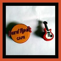 2 Guitar and Hard Rock Silicone Shoe Charms for Crocs gift USA Seller