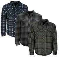 Mens Buffalo Quilted Lumberjack Padded Fleece Shirt | Jacket