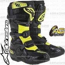 Alpinestars Tech 6S Niños Negro Amarillo Flo botas Talla EE. UU. 3 Reino Unido 2 UE 35.5 Motocross