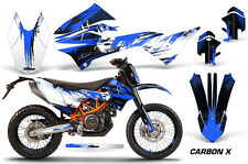 AMR Racing Number Plate Graphic Decal Kit For KTM 690 Enduro R 12-16 CARBON X U
