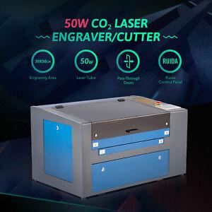 50W  CO2 Laser Engraver Cutter Engraving Machine 30x50cm Bed Dual-Platform