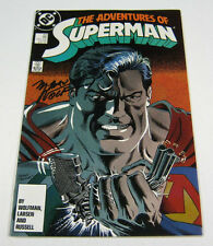 Adventures of Superman #431 Signed by Wolfman,Ordway,Carlin! COA DC COMICS 1987