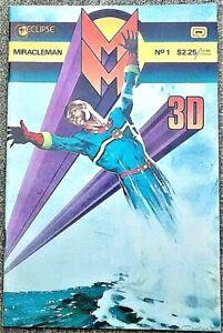 MIRACLEMAN 3-D #1 Dec 1985! NEAR MINT! 9.4! $.99! MAGNIFICENT Copy with GLASSES!