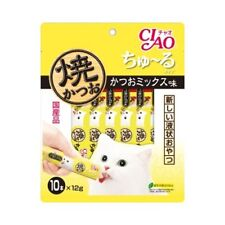 INABA CIAO Catfood Churu Cat Lick Snacks Fillet bonito mix taste 12g?~10p Japan*