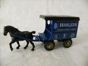 Calêche fourgon publicitaire + cheval HAMLEYS STREET LONDON TDF no Vanguards cij