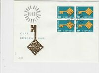 switzerland helvetia europa 1968 stamps cover ref 20246