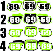 1988-1998 Kawasaki KX 500 Number Plates Side Panels Graphics Decal