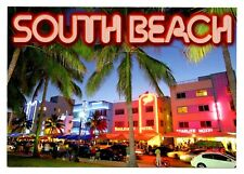 South Beach Florida Postcard Nightclubs Bars Neon Signs Colony Hotel Starlite