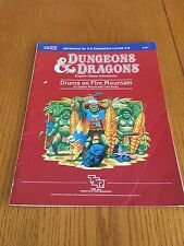 Dungeons & Dragons Module - X8 Drums On Fire Mountain - D&D TSR