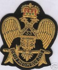 Masonic Mason Freemasonry Scottish Rite Eagle Badge Patch Master Lodge 33 Symbol