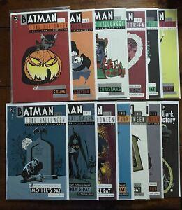 DC: BATMAN: THE LONG HALLOWEEN #1-3, 5-13; INCOMPLETE SET/ LOT, 1994, VF - NM