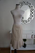 Boden Women's A-Line Peplum Skirt Cotton Blend New $108.00 Size UK 12 L US 8 L