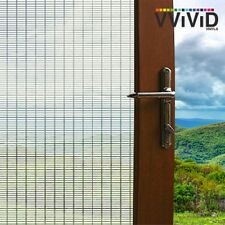 """Frosted Short White Line Window Glass Decorative Privacy Home Film 24"""" x 36"""""""