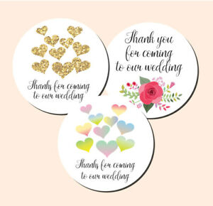 'Thanks for coming to our wedding' 30mm or 60mm stickers - Available in 3 styles