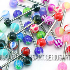 30pcs PREMIUM Tongue Tounge Rings BARS PIERCING JEWELRY ae3d Hot