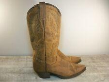 DP3464 Brown Snip Toe Dan Post Women's Western Cowboy Distressed Boots Size 7.5