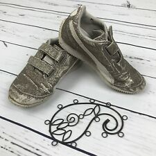 Puma Steeple Toddler Girls Gold Size 11.5 Track Shoes Sparkle Velcro