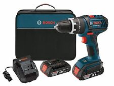 Bosch 18V HDS182-02 EC Brushless 1/2 in Hammer Drill / Driver w/ 2 Batteries NEW