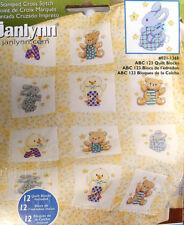 Baby Quilt Blocks (12) - ABC-123 - Nursery Animals - no-count cross-stitch