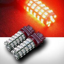 2pc 3157 Socket Super Red 68x 3528 SMD LED Brake/Stop Tail Light Bulb DC 12V