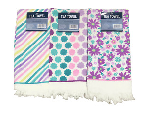 4 Pack Cotton Terry Tea Towel
